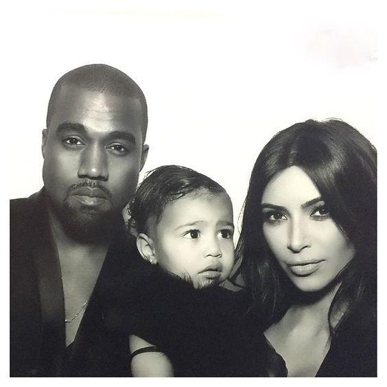 Kanye West, Kim Kardashian e North (Foto: Reprodução)