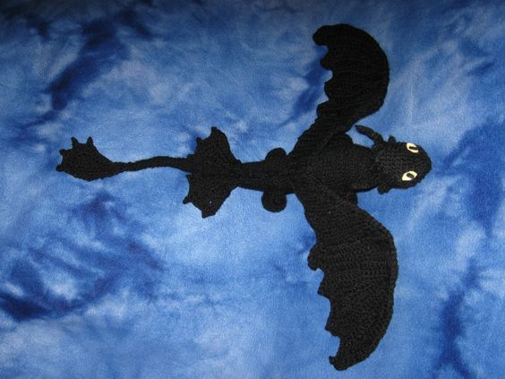 Knitting Pattern Toothless Dragon : The ojays, Toothless and Train your dragon on Pinterest