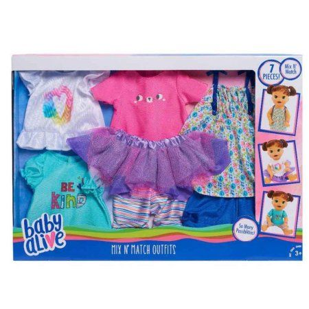 Free Shipping Buy Baby Alive Mix N Match Fashion Outfit Set At Walmart Com Baby Alive Doll Clothes Baby Alive Dolls Baby Dolls For Kids