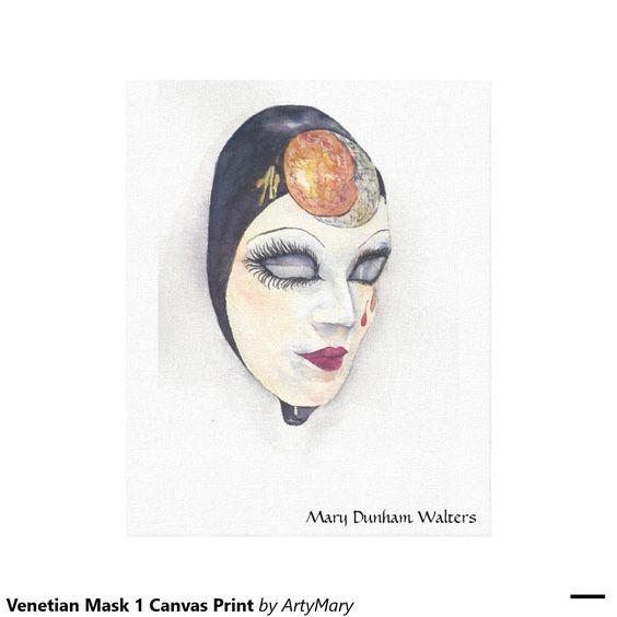 Venezianischer Leinwand-Druck der Masken-1 Gespannte Galerie Drucke