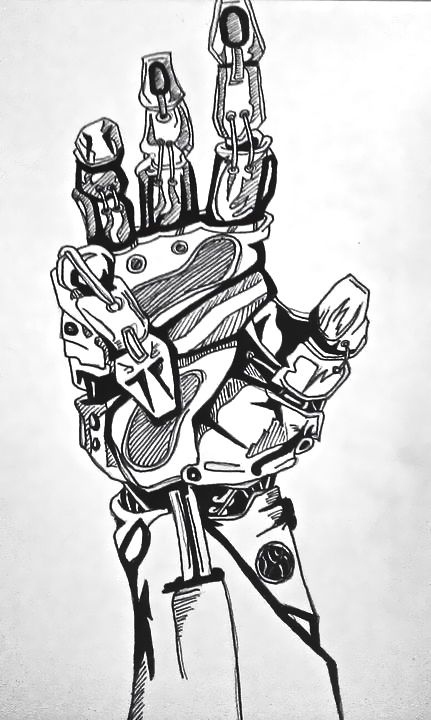 Mechanical hand art - photo#4