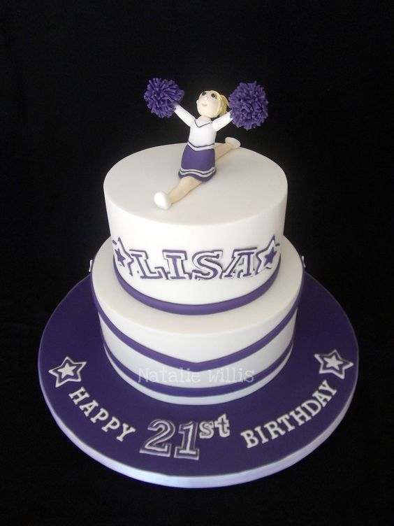 21st Birthday Cheerleader Cake | This was made for a friend'… | Flickr