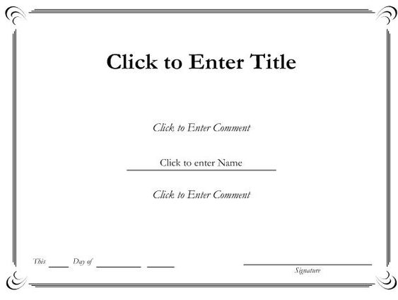 Doc585435 Word Certificate Templates Word Certificate – Certificate of Participation Template Word