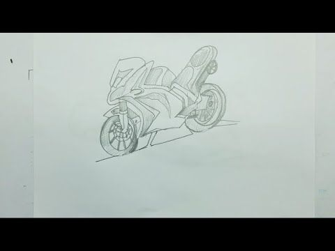 How To Draw A Motorcycle Step By Step Easy For Beginners Learn Drawing Learn To Draw Drawings Motorcycle Drawing