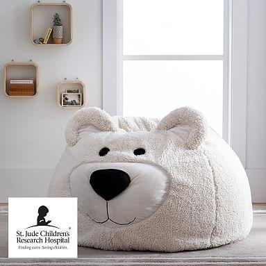 Bear Critter Faux Fur Bean Bag Chair Faux Fur Bean Bag Bean Bag Chair Fur Bean Bag