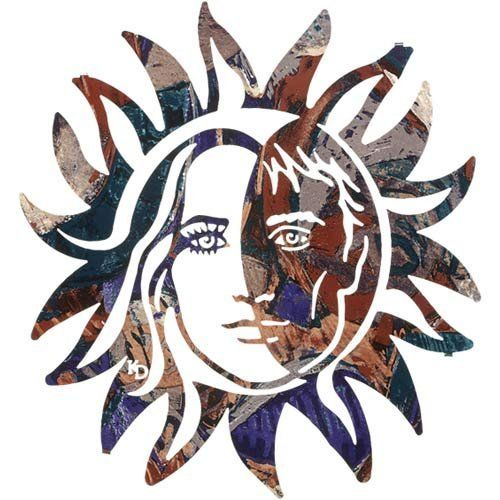 20 lazart metal wall art wall decor harmony sun face for Home decor 96