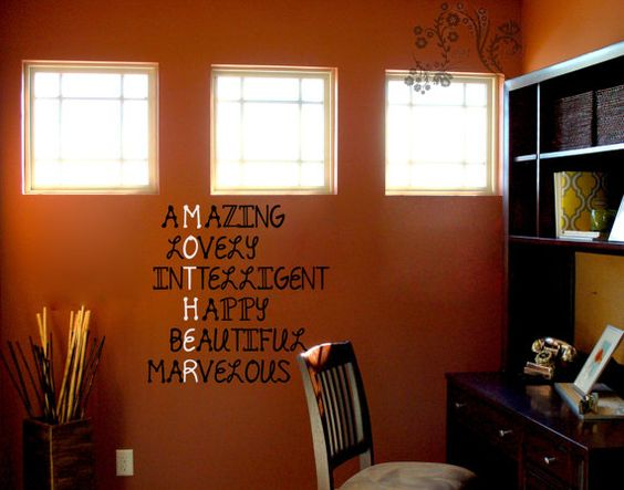 Mother, aMazing, lOvely, inTelligent, Happy, bEautiful, marvelous - Mother's day wall Decal - Wall Decals - Wall Vinyl - Wall Decor - Wall art vinyl $16.00