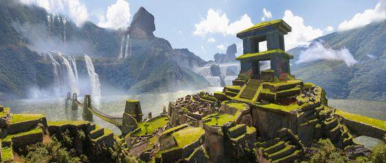 ArtStation - Unreal Tournament - Deep Ruins, Eddie Mendoza