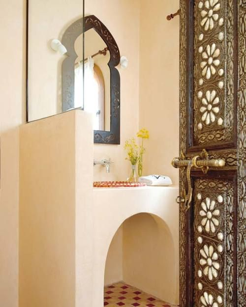 So Maroccan Style Bath Pinterest The Doors Vanities And Cabinets