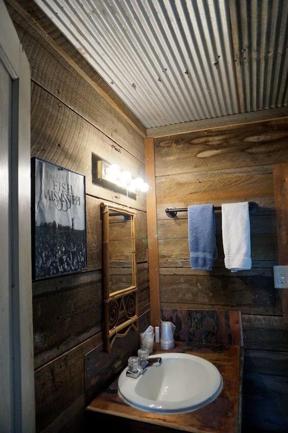 11 Inspiring Bathroom Ceiling Ideas Rustic Bathrooms Rustic