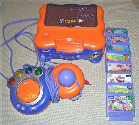 vtech v smile learning console system 1 controller 8 game lot dora cars elmo cars game. Black Bedroom Furniture Sets. Home Design Ideas
