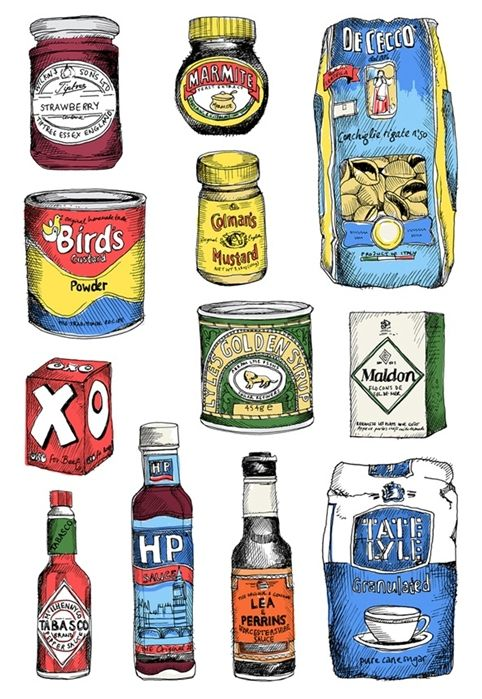 Beautiful food illustrations by May van Millingen | Exhibition runs from 11 November – 19 January 2014 at The Modern Pantry, 47-48 St John's Square, Clerkenwell, London EC1V, see you there!