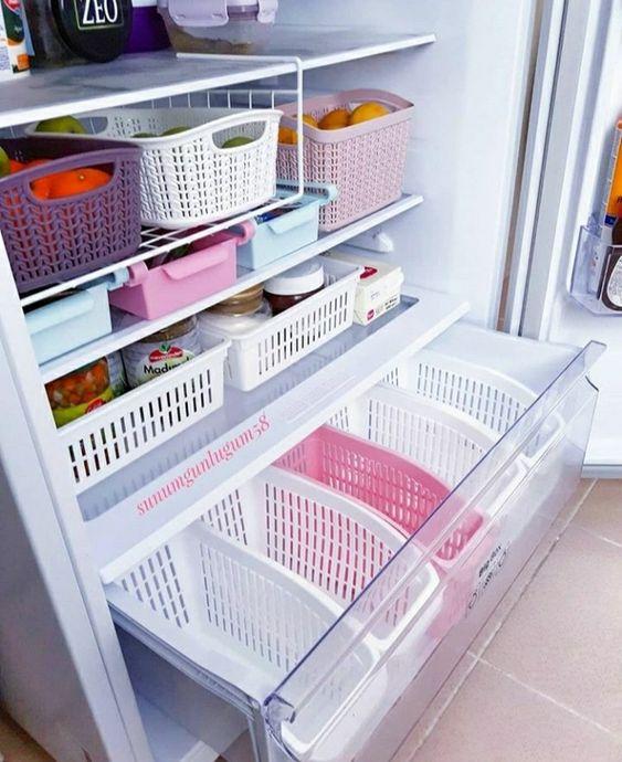 Organização de geladeira