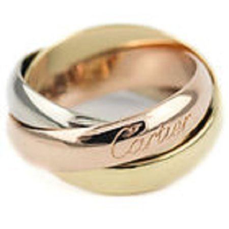 Cartier Trinity 18K 750 White Yellow Amp Rose Gold Triple Wedding Ring Band