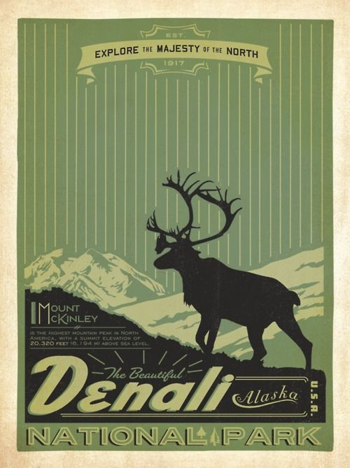 Denali travel poster