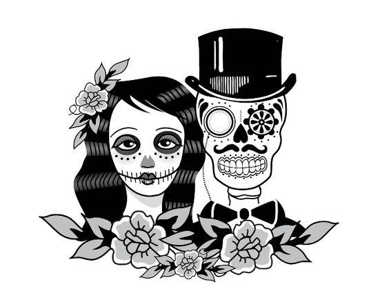Orange September Sugar Skull Artwork Day Of Dead Tattoo Anniversary Tattoo