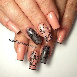 Дизайн ногтя стрекоза