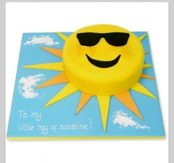 Sun Cake Sun And Sunglasses On Pinterest
