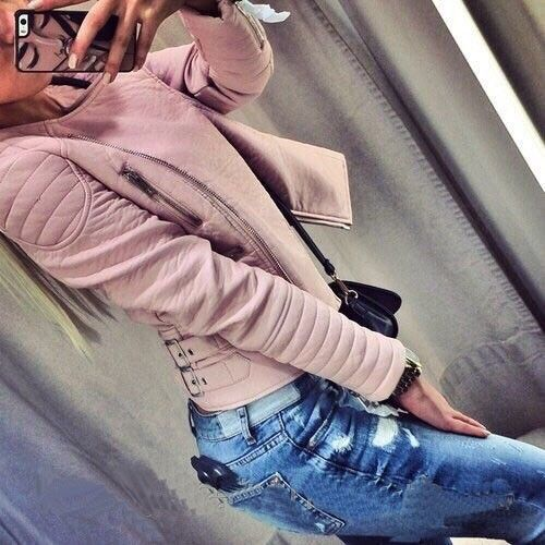 2015 newest autumn high fashion trend street women's fashion style solid pink coat full sleeve o neck novelty sexy clothing-in Basic Jackets from Women's Clothing & Accessories on Aliexpress.com | Alibaba Group