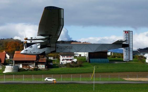 """Solar Powered """"Solar Impulse 2"""" Experimental Aircraft"""