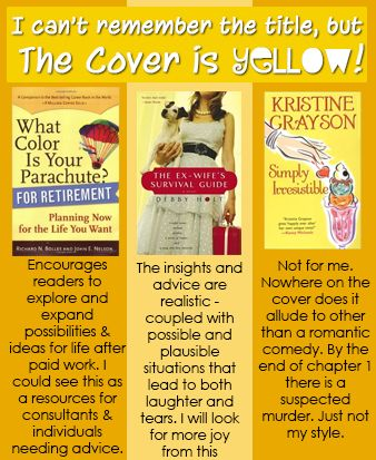 "Customer Feedback for St. Thomas Public Library's ""I can't remember the title, but the cover is YELLOW!"" book display. (June 2013)"