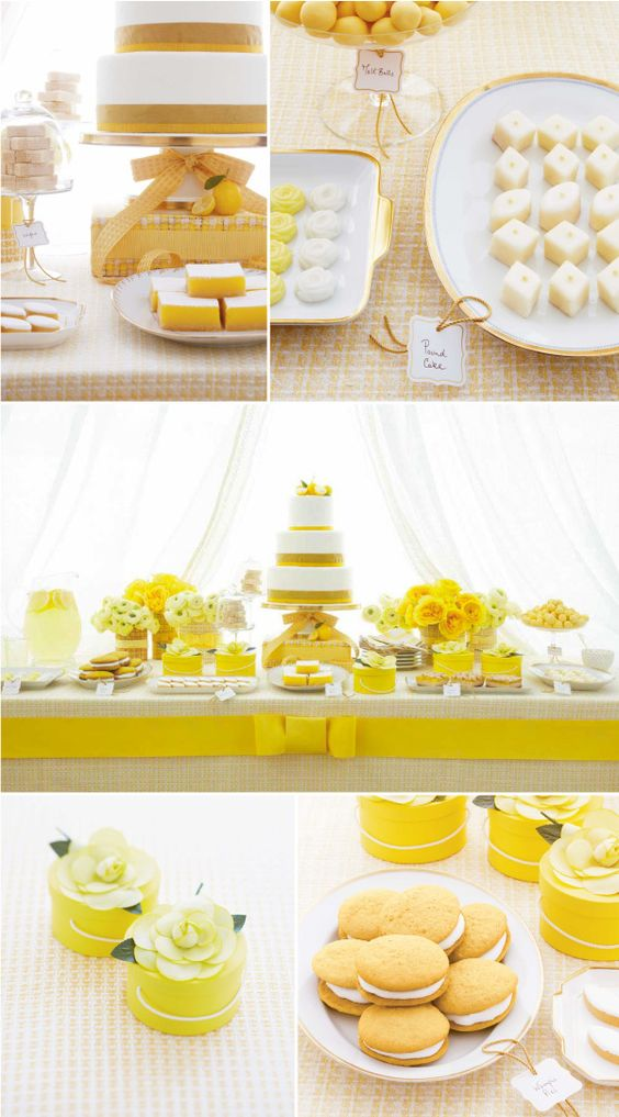 Yellow party inspiration by Amy Atlas