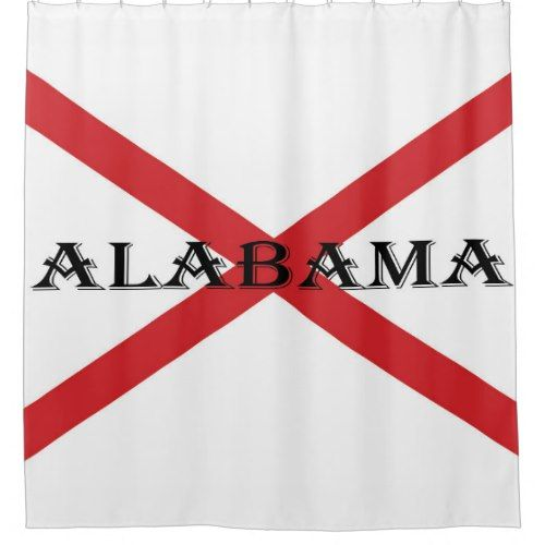 Alabama Flag And Banner Shower Curtain Zazzle Com With Images