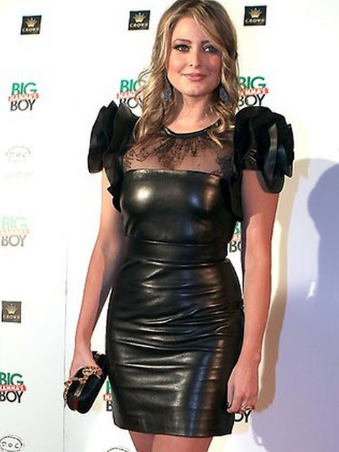 Celebrities In Leather: Holly Valance in leather dress