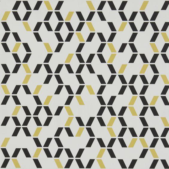 Papier peint duplex chromo noir jaune castorama ma for Papier peint castorama
