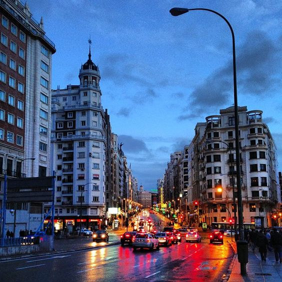 Plaza España - Gran Vía. 19-01-13