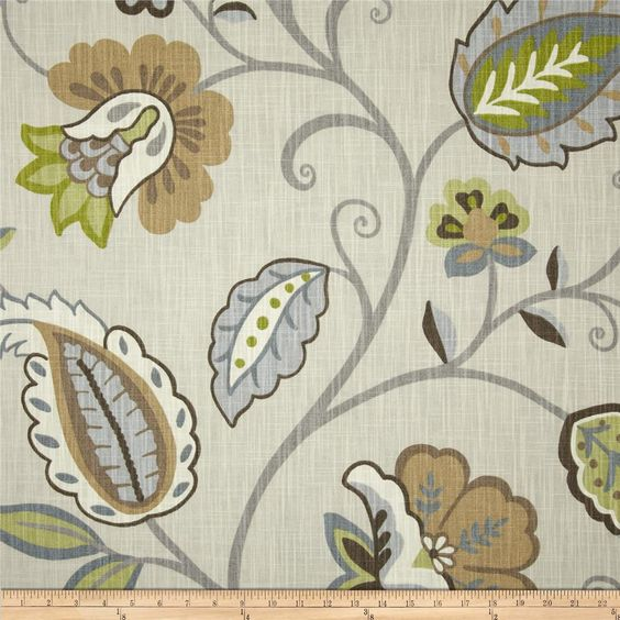 "P Kaufmann Petal Pusher Cardamom $19.98/y Contents 100% Cotton Fabric Weight Medium/Heavyweight Horizontal Repeat 27.5 Vertical Repeat 25 Width 54"" Collection P Kaufmann Petal Pusher"