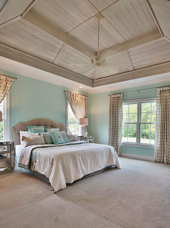 Bedroom Set The Stage Beautiful Bedrooms Pinterest Ceiling Ideas Turquoise And Trey Ceiling