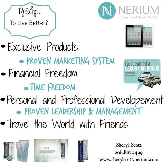 """Ready to LIVE BETTER in 2015? With a proven #marketingsystem behind us #Nerium Brand Partners have a unique #opportunity to create real change in their personal and #professional lives! Ask me how you can have """"time freedom"""" while #traveling the world with friends or visit http://sherylscott.arealbreakthrough.com/ #WhyNotNow #LiveBetter #RealOpportunity"""