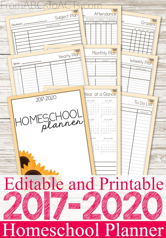 Editable 2017-2020 Homeschool Planner Homeschool, Planners and - editable lined paper