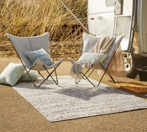 Lafuma Sphinx Sunbrella Butterfly Lounge Chair Pottery Barn In 2020 Indoor Outdoor Rugs Outdoor Rugs Outdoor