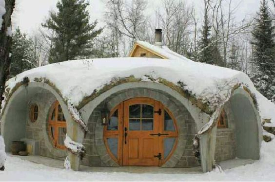"Round house: Here in FL. there is no ""Snow"" , but I'll sink it below the ground w/ only Front door and the next L and R Window Ways:"