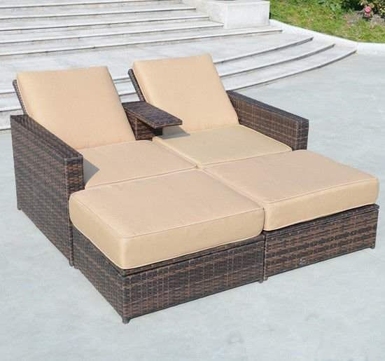 Marti Double Reclining Chaise Lounge With Cushion Joss Main Wicker Chaise Lounge Outdoor Chaise Lounge Wicker Lounge Chair