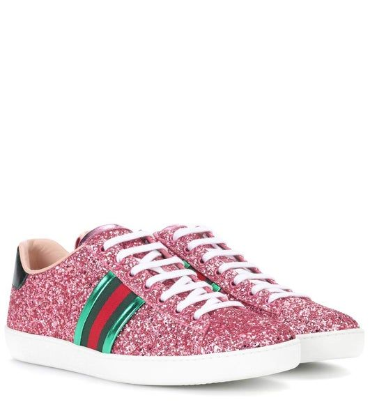 Glitter sneakers, Glitter shoes, Gucci