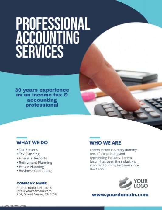 Accounting Services Flyer Poster Template Accounting Services Accounting Flyer