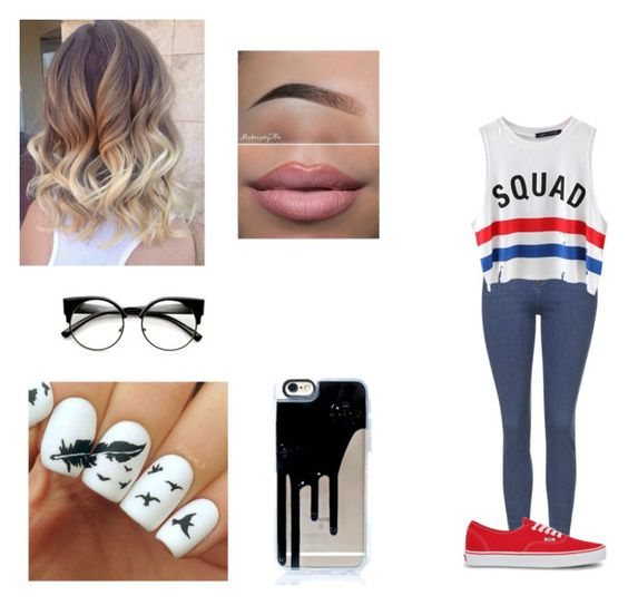 """""""Untitled #361"""" by lovelylani ❤ liked on Polyvore featuring Topshop, Chicnova Fashion and Vans"""