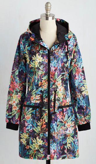 colorful rain jacket