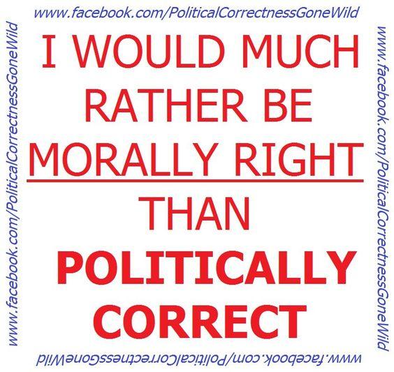 Being Politically Correct
