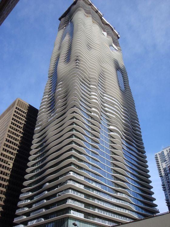 Aqua Building, East view