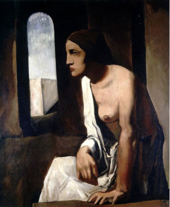 Mario Sironi (Italian 1885-1961), Solitude (Solitudine), oil on canvas, 1925-26. Collection National Gallery of Modern and Contemporary Art, Rome.