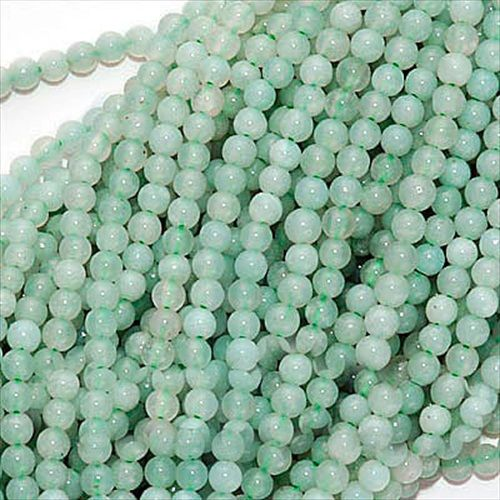 PALE AQUA BLUE AMAZONITE TINY 2MM ROUND BEADS 16 INCH STRAND from beadaholique.com