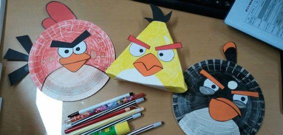 manualidades_con_ninos_angry_birds_con_platos_desechables