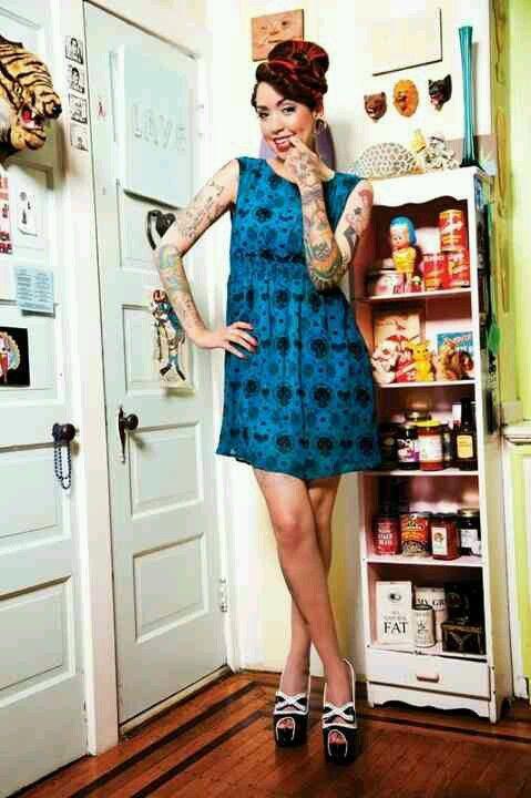 http://www.sourpussclothing.com/index.asp?cat=Dresses=HEY+KITTEN+DRESS+TEAL=1
