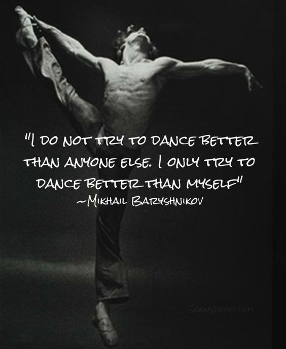 Dance quote by Mikhail Baryshnikov. It's about being as good as you can be.