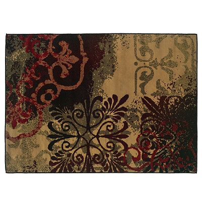 Campbell Red Amp Brown Medallion Area Rug 8x10 Pour La