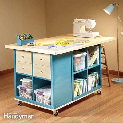 Use Storage Cubes as a sewing table, and many more ideas